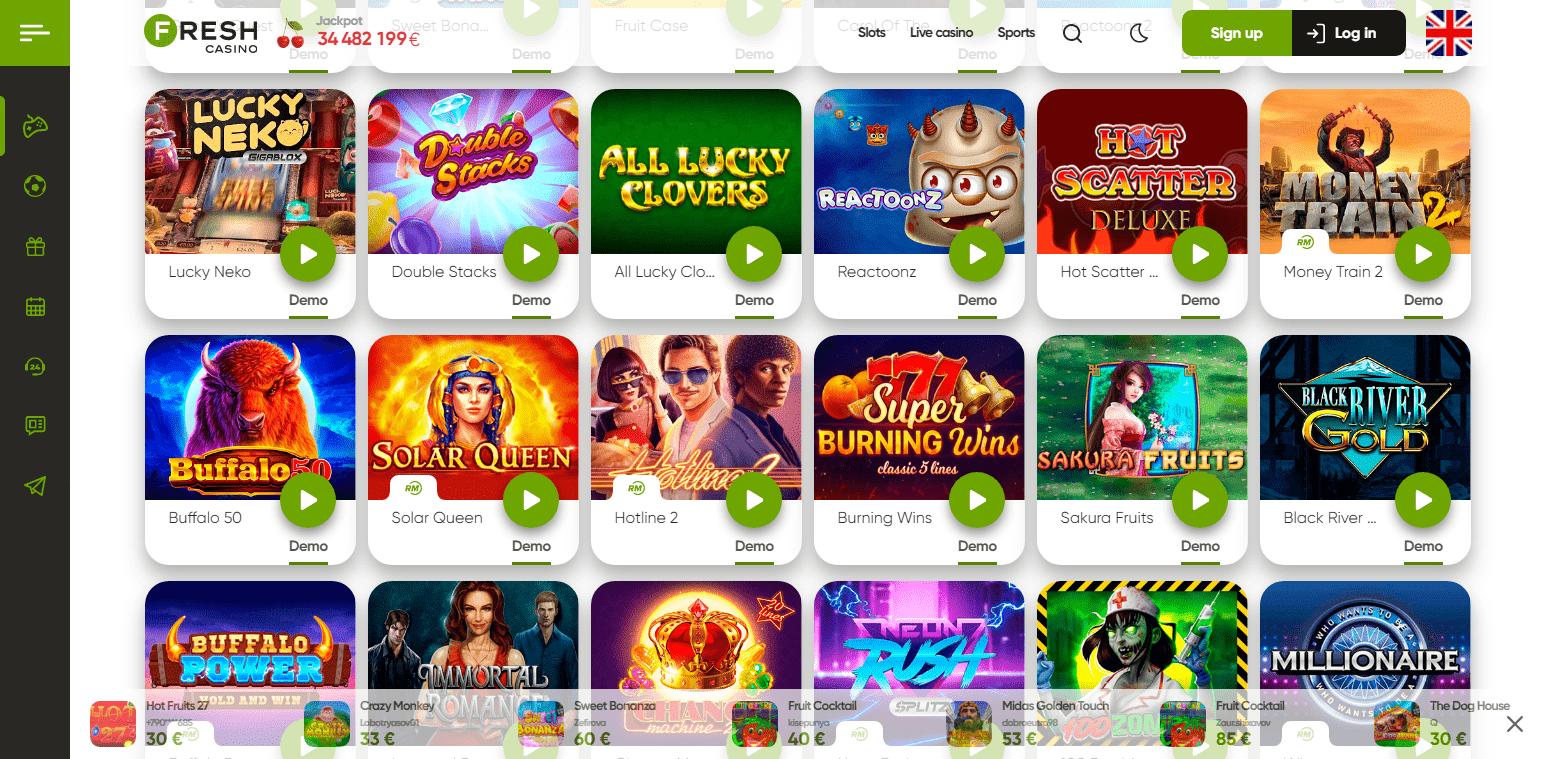Online Automaty Fresh Casino