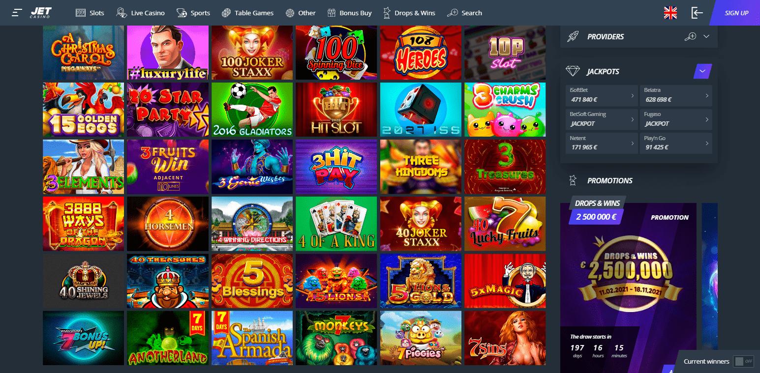 Online Automaty Jet Casino
