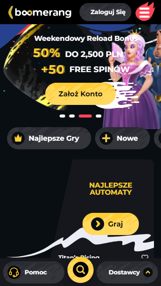 Boomerang Casino iOS & Android mobile