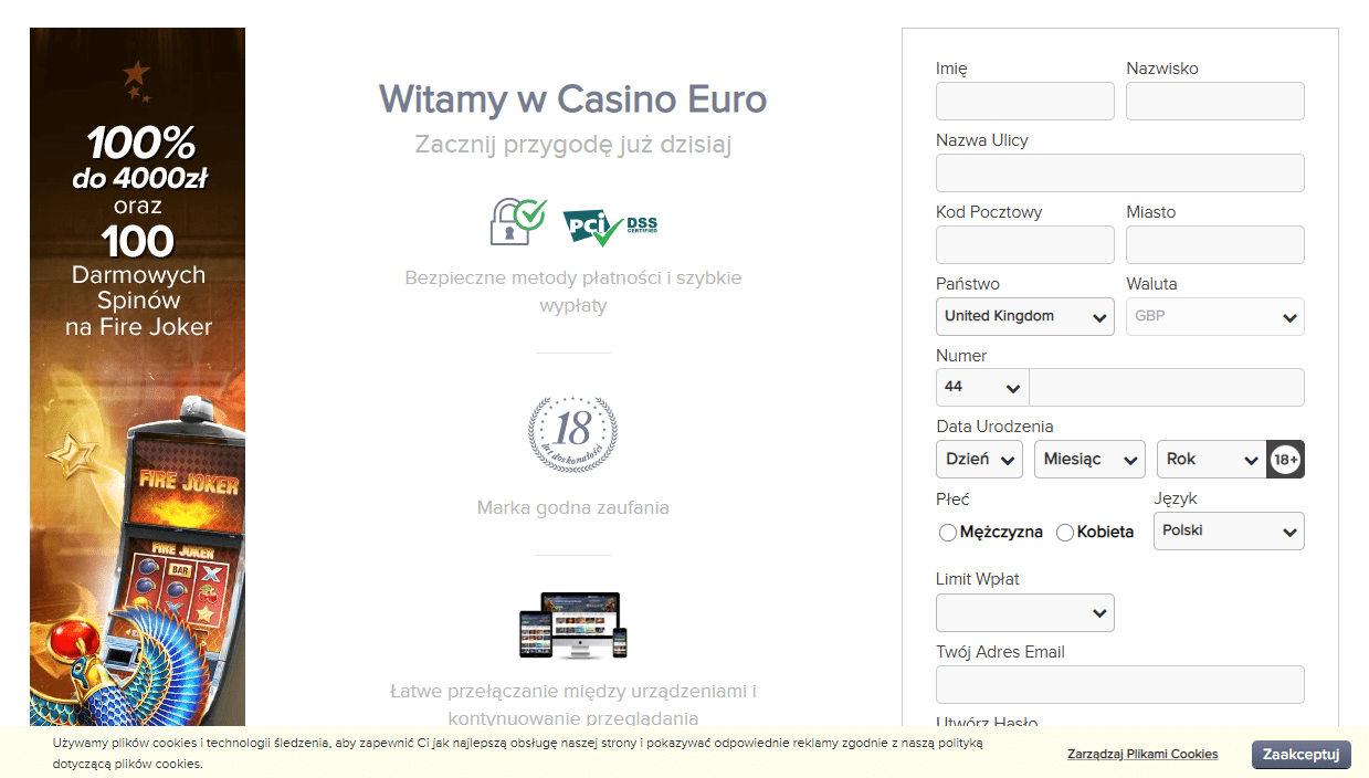Casinoeuro logowanie