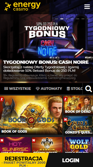 EnergyCasino iOS & Android mobile