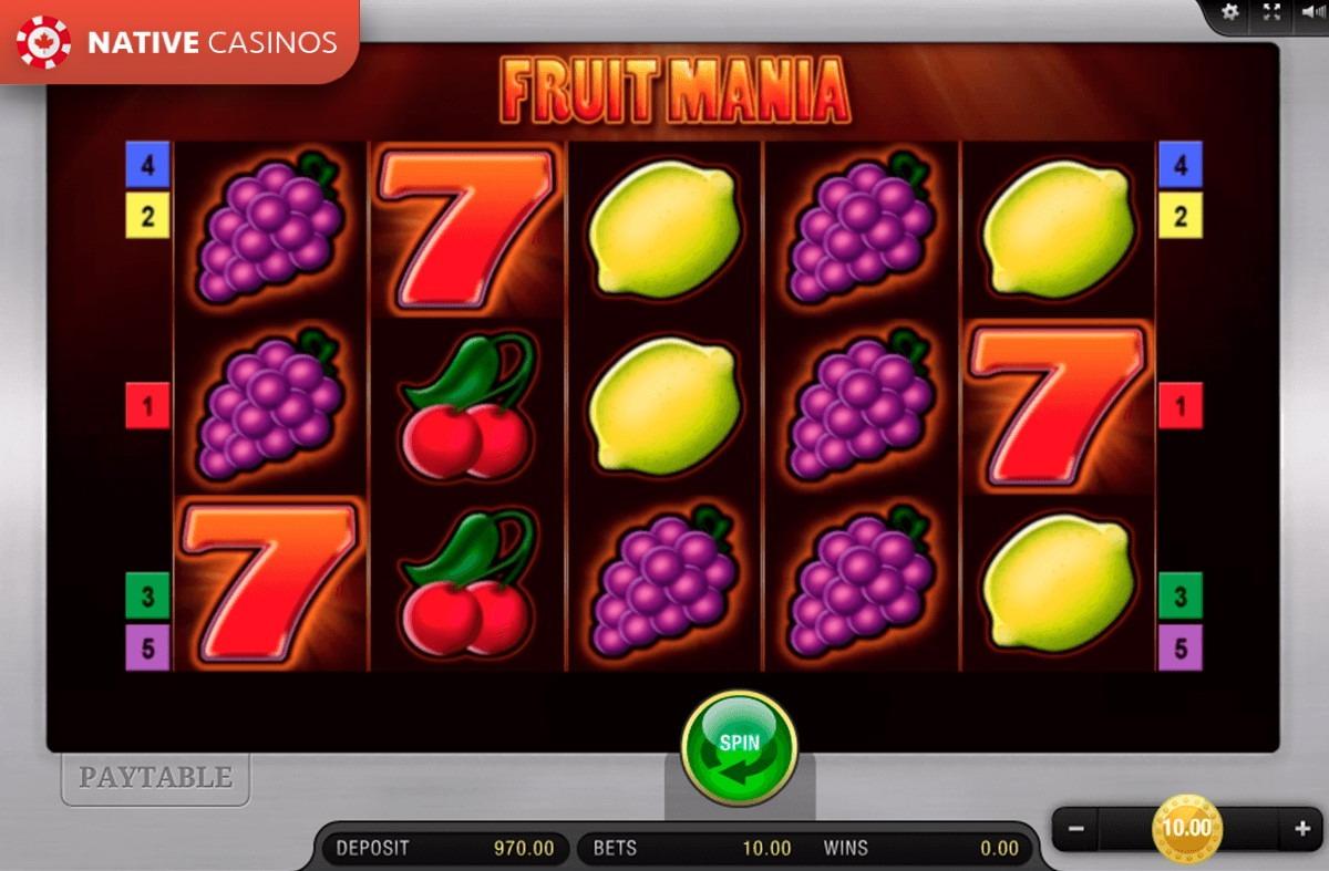 Fruit Mania interface