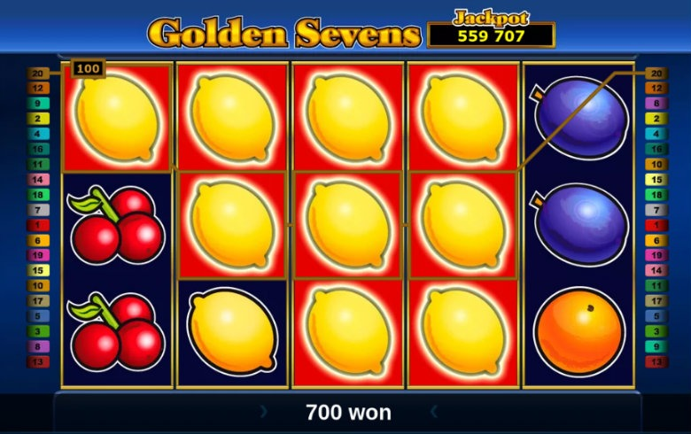 Golden Sevens interface
