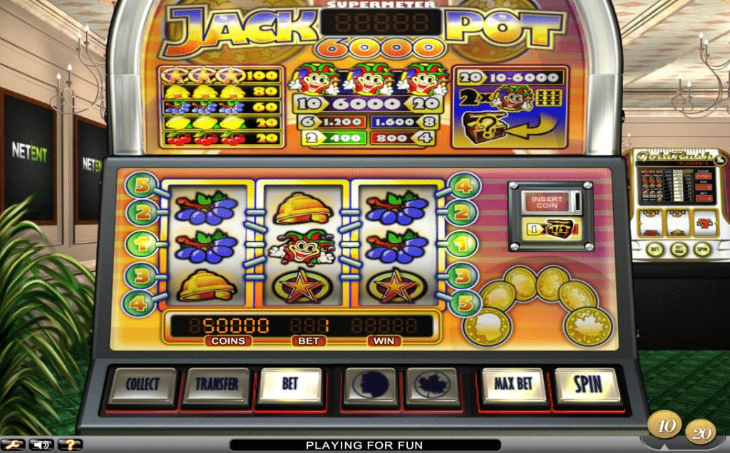Jackpot 6000 interface