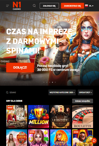 N1 Casino iOS & Android tablecie