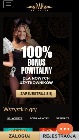 PanKasyno iOS & Android mobile