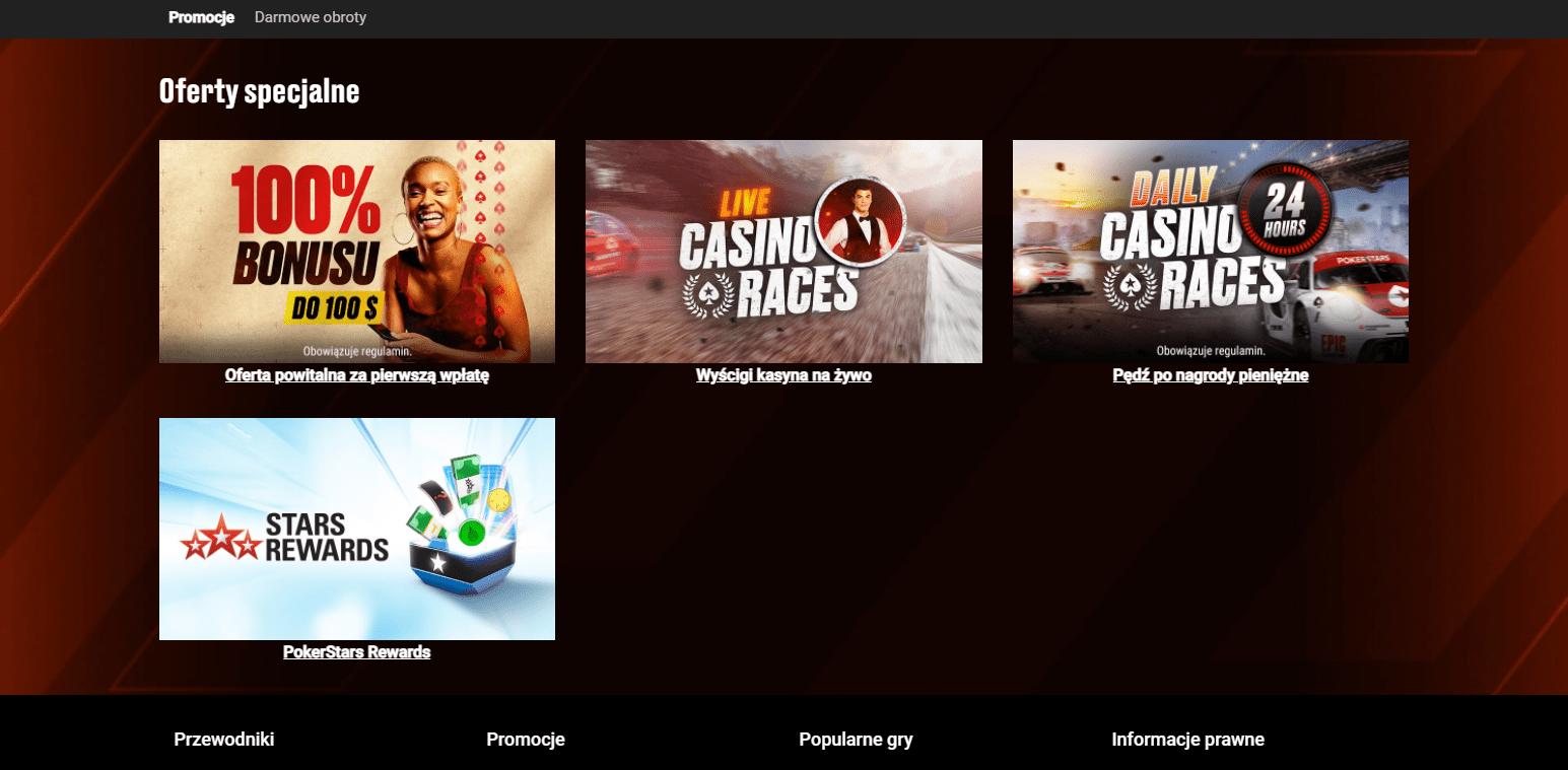 Darmowe spiny i Bonusy w PokerStars Casino