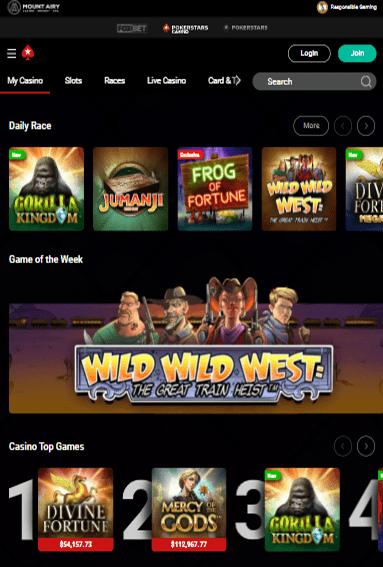 PokerStars Casino iOS & Android tablecie