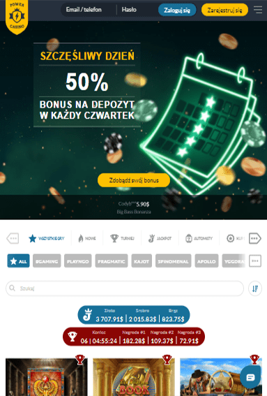 Power Casino iOS & Android tablecie