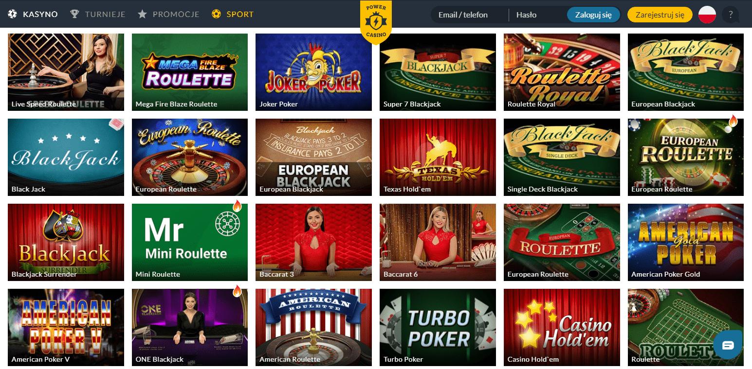 Wideo sloty w Power Casino