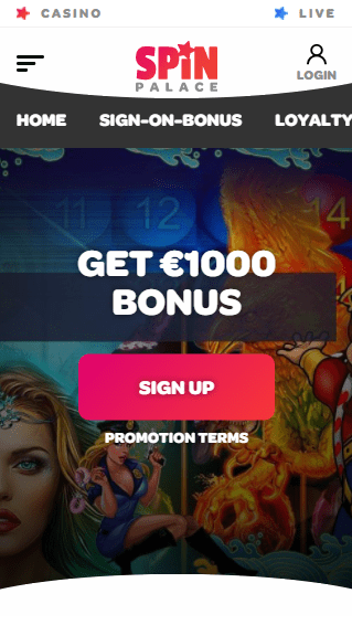 Spin Casino iOS & Android mobile