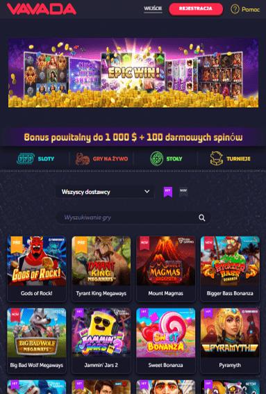 Vavada Casino iOS & Android tablecie