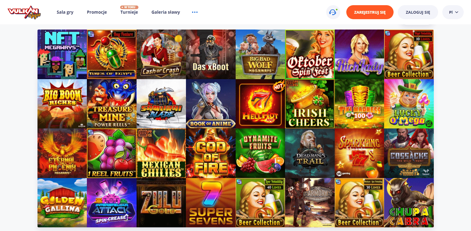 Online Automaty Vulkan Vegas Casino