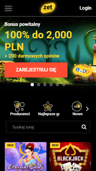 Zet Casino iOS & Android mobile